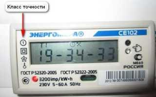 Счетчик электроэнергии класс точности