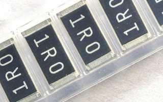 Мощность smd резисторов по размерам