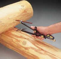 Инструмент для выборки паза в бревне