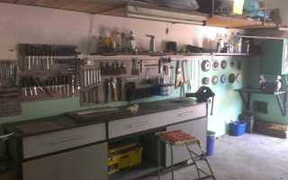 Стол верстак в гараж своими руками