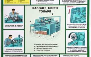 Правила техники безопасности токаря