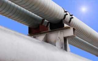 Опоры для магистральных трубопроводов