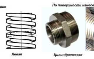 Метрическая и трубная резьба отличия