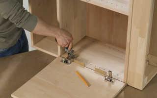 Отверстие под мебельную петлю размеры