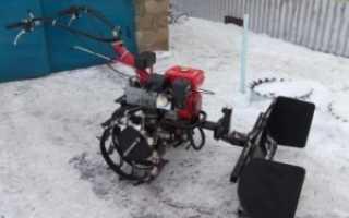 Самодельный снегоотвал для мотоблока
