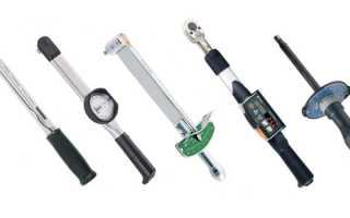Динамометрический ключ со стрелкой
