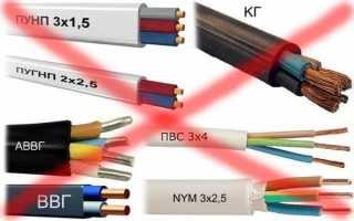 Правила прокладки кабеля под землей