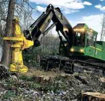 Трактор для валки леса