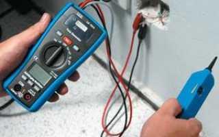 Проверка обрыва провода мультиметром