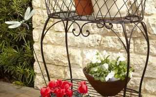 Фото кованных подставок для цветов