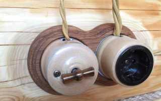 Проводка на роликах в деревянном доме