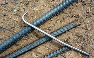 Крючок для вязки проволоки арматуры