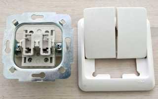Схема проводки двойного выключателя