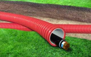 Прокладка провода под землей на даче