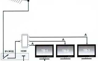 Две антенны на один телевизор схема