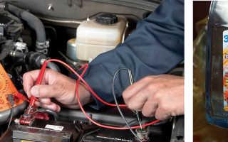 Проверка плотности электролита акб
