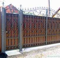 Ворота для дома фотогалерея железные